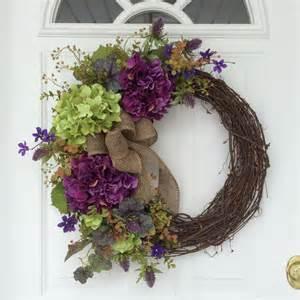 How To Make A Front Door Wreath Wreaths Hydrangea Wreath Front Door Wreath Rustic