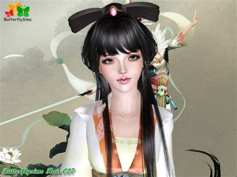 sims 3 anime hair anime hairstyle hair 027 by butterfly sims 3 hairs
