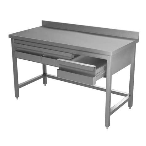 tavoli con cassetti tavolo inox per ristorazione con cassetti e alzatina