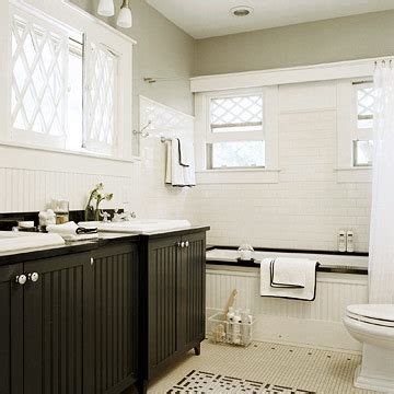 bathroom beadboard ideas beadboard cabinets cottage bathroom bhg