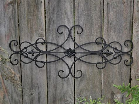 ornamental metal wall decor summer sale wrought iron wall deco fleur de lis shabby