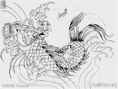 sket tattoo ikan koi 24 latest dragon fish tattoo designs