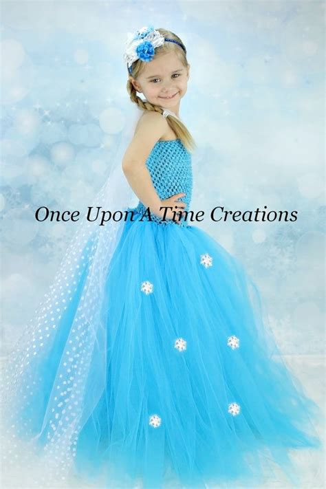 Elsa Handmade Costume - elsa inspired frozen princess tutu dress festas