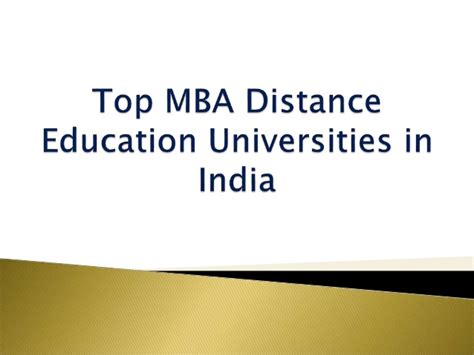 Mba Distance Education Colleges by Top Distance Mba Universities In India