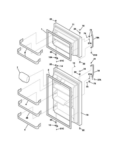 Kenmore Elite Refrigerator Door Seal by Refrigerator Parts Kenmore Refrigerator Parts Door Gasket