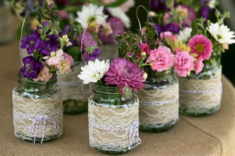 Jar Decorations by White Weddings Celebrations Events Jam Jar