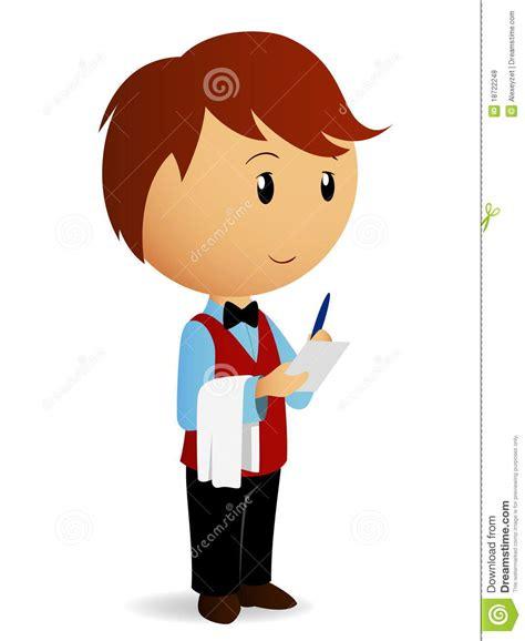 il cameriere il cameriere fumetto cattura un ordine fotografie