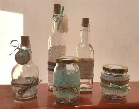 decorar botellas de vidrio vintage 10 frascos y botellas decorados vintage para mesas de