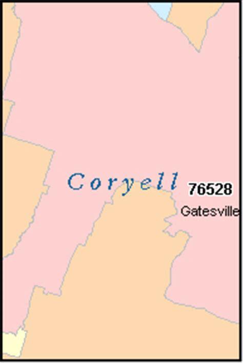 coryell county texas map coryell county texas digital zip code map