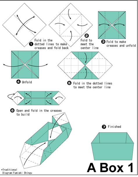 How To Make A Paper In The Box - origami two color box1