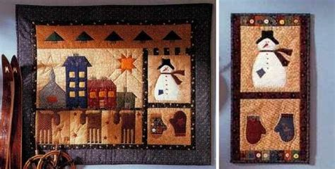 quilted folk wall hangings celebrate the season