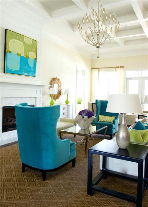 turquoise living room decor landscape modern with casters