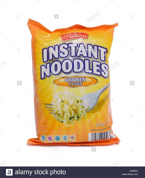 packet of chicken flavour instant noodles stock photo royalty free image 65329694 alamy