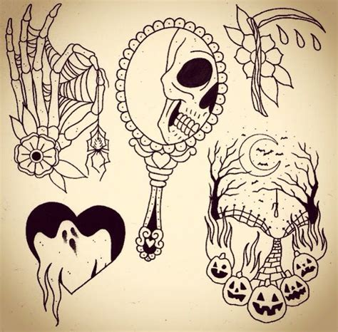 halloween tattoo flash 25 best ideas about flash on