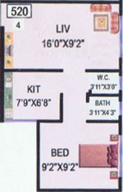 520 sq ft 520 sq ft 1 bhk 1t apartment for sale in raj chamunda mangal murti koperkhairane mumbai