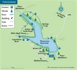 Map My Walk Route by Thruscross Reservoir Walk Map Walking Britain