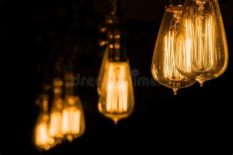 edison bulb hanging light vintage edison light bulbs hanging against a black