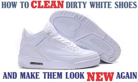 how to clean white shoes and make them white again