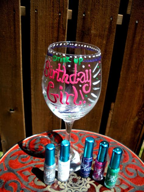 Decorating Glass Cups by Decorate A Wine Glass Using Nail