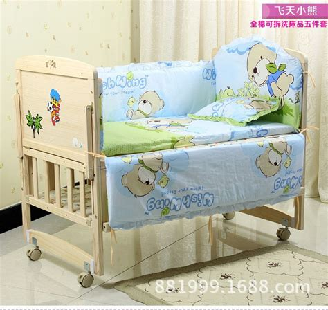 100 Cotton Crib Bedding Sets Promotion 7pcs Baby Crib Bedding Sets Bed Linen Bumper 100 Cotton Fabrics Bumper Duvet