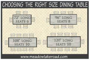 10 Seat Dining Table Dimensions Choosing The Right Size Dining Table Meadow Lake Road