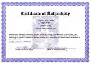 certificate of authenticity autograph template the artwork of michael macaulay website