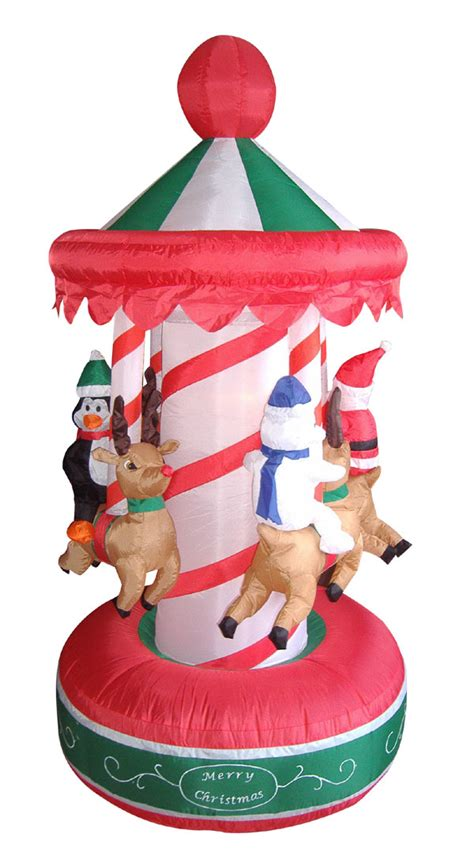outdoor carousel decoration 6 5 animated carousel lighted yard