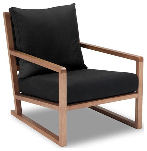 Contemporary Armchairs Woolwich Black Armchair Modern Armchairs And Accent Chairs