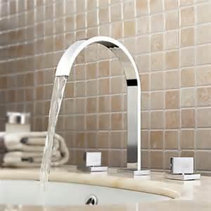 contemporary chrome widespread bathroom sink faucet