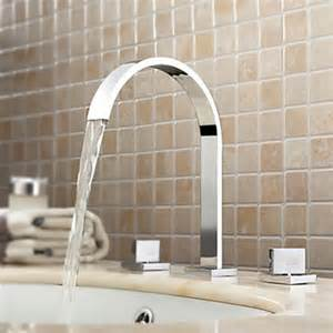 country widespread chrome bathroom faucet