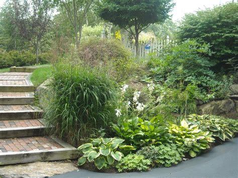 steps in hillside steep side yard slope big picture