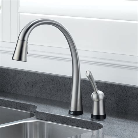 shop delta esque with touch2o technology chrome 1 handle touch technology kitchen faucet 28 images 1000 images moen