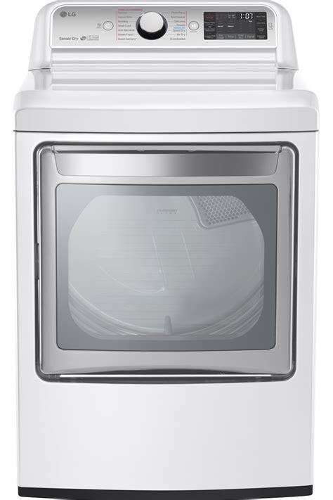 lg gas dryer lg white turbosteam gas dryer dlgx7601we