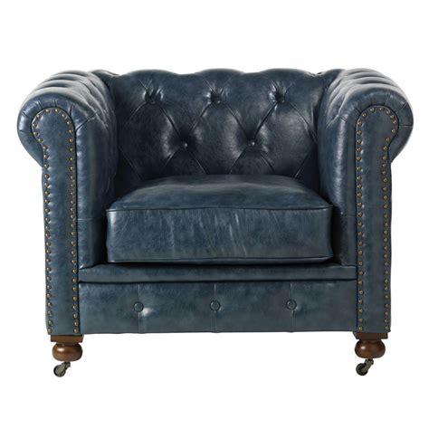 blue arm chairs home decorators collection gordon blue leather arm chair