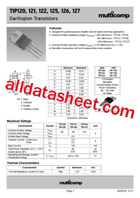 transistor mpsa13 datasheet tip120 データシート pdf list of unclassifed manufacturers
