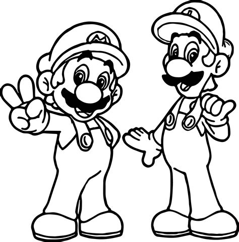 coloring page mario and luigi super mario and luigi all right coloring page wecoloringpage