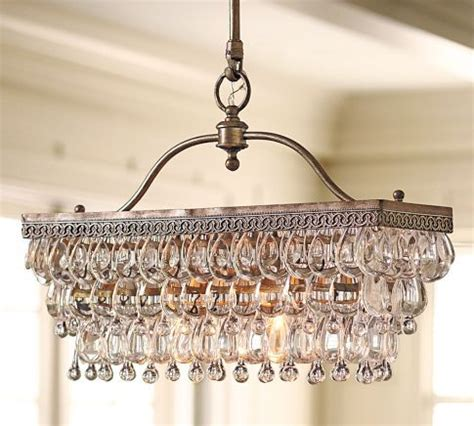 Pottery Barn Clarissa Chandelier Clarissa Rectangular Chandelier For The Home Glasses Kitchens And Pottery