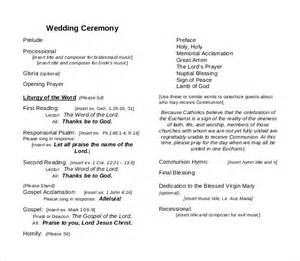 wedding ceremony templates wedding ceremony program template 31 word pdf psd
