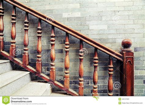 Banisters For Stairs Handrail Of Staircase Stock Image Image Of Stairsteps