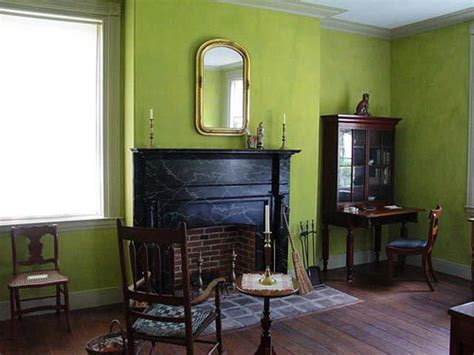 green living room paint green living room milk paint in historic indiana home