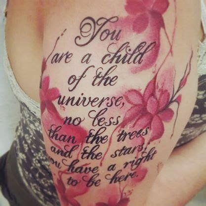 desiderata tattoo designs the style of the cherry blossoms desiderata max