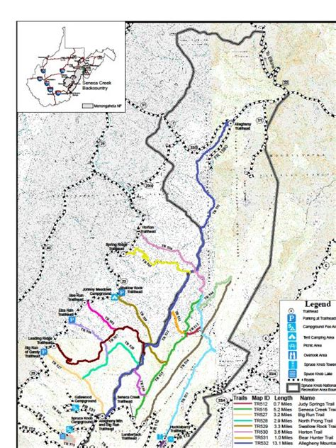 Spruce Knob Trail Map by The Search For Salmonids Terra Firma Seneca