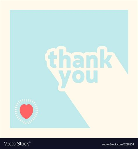 thank you card template free vector thank you card design template royalty free vector image