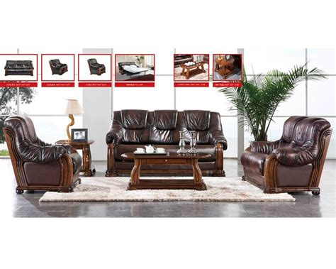 european sofa set european design leather sofa set in light brown finish 33ss151