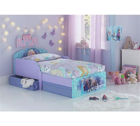 disney frozen toddler bed buy disney frozen toddler bed with drawers multicoloured