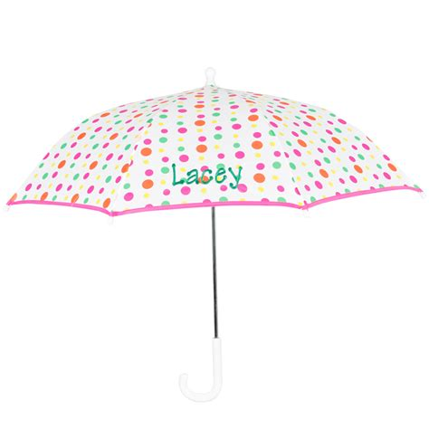 polka dot kids personalized umbrella rosenberryrooms com