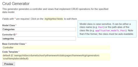 Membuat Form Login Dengan Yii Framework | membuat crud di yii framework dengan gii