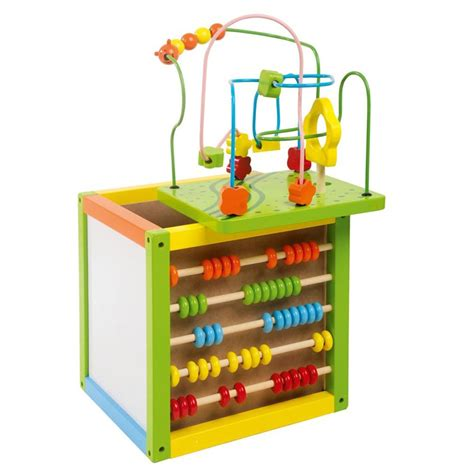 wooden bead maze cube with abacus by leomark new ebay