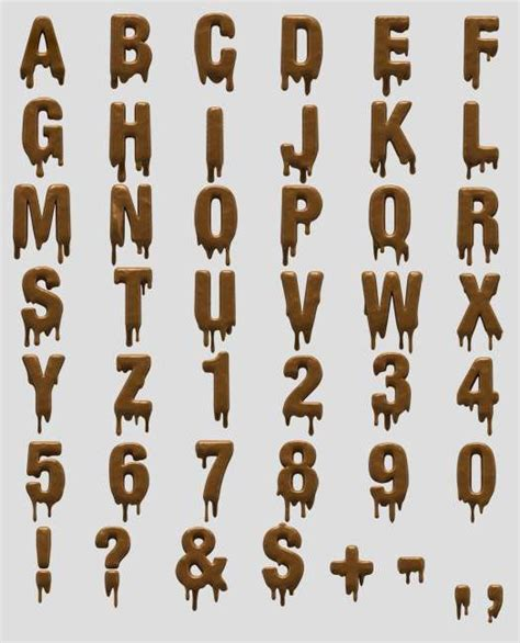 dafont dripping font dripping chocolate typography object inspired fonts