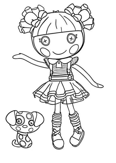 Lalaloopsy Coloring Pages lalaloopsy coloring pages for to print for free